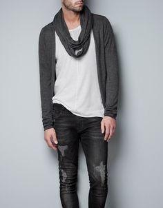 SCARF JACKET - Knitwear - Man - ZARA United States