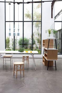Furniture basics with polished concrete floors!