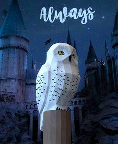 Paper Owls, Paper Art, Owl Crafts, Paper Crafts, Owl Templates, Applique Templates, Applique Patterns, Harry Potter Plush, Hedwig Owl