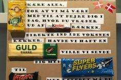 Lav et brev med sjove slik-ordspil og brug det som...