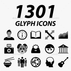 1301 Glyph Vector Icons — Vector EPS #business #symbol • Available here → https://graphicriver.net/item/1301-glyph-vector-icons/11548799?ref=pxcr