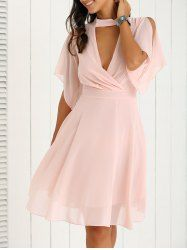 SHARE & Get it FREE | Pleated Petal Sleeve Pink DressFor Fashion Lovers…