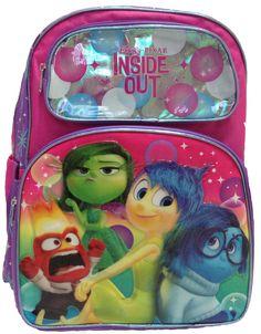 da9de446cd4 Disney Pixar INSIDE OUT - Large Backpack - Pink