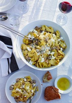 Fresh Pappardelle with Sausage, Fennel and Ricotta   Williams-Sonoma Taste