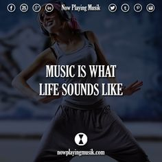 Music is what life sounds like.  #music #quotes #quote #life #edmfamily #trancefamily #plur #rave #edm #festival