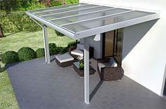 #Alu #Terrassenüberdachung #REXOclassic in weiß  http://www.rexin-shop.de/terrassenueberdachungen-alu-classic-mit-stegplatten-c-38_101.html