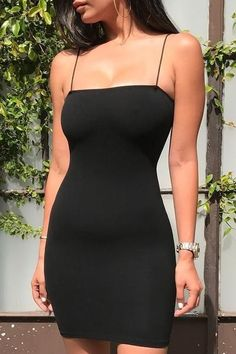 Cmo combinar un vestido negro - Outfit vestido negro - Cmo combinar un vestido negro – Outfit vestido negro Source by binkuyy - Glamouröse Outfits, Black Dress Outfits, Black Tank Dress, Cute Casual Outfits, Little Black Dress Outfit, Cute Black Dress, Girls Black Dress, Classic Black Dress, Black Bodycon Dress