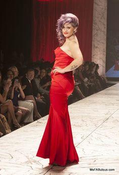 Kelly Osbourne in red fishtail Z Spoke by Zac Posen