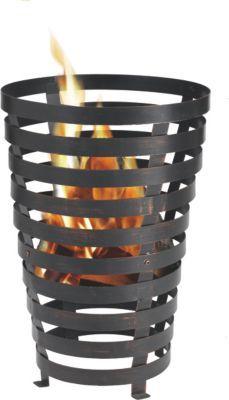 Mit Hilfe einer Feuerstelle kann ein besonderes Flair im Garten oder auf der Terrasse geschaffen werden. Entfachen Sie ein wärmendes Feuer, um die fröhlichen Grillabende mit Freunden zu verlängern. Design und Funktionalität werden in dem Feuerkorb Benton vereint. Der in Antik-Rost-Optik lackierte Stahlkorb bietet einen interessanten Blickfang. Eine außergewöhnliche und erholsame Atmosphäre ist durch die Feuerstelle Benton garantiert. Tepro Feuerkorb ´´Benton´´ Farbe: schwarz / bronze In…