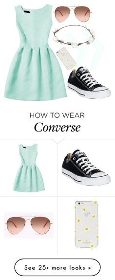 """""""I Don't Care For Your Fairytales"""" by bookgirl27 on Polyvore featuring Converse, Kate Spade and Lipsy"""