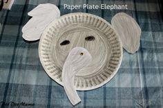 Paper Plate Elephants #animal #crafts