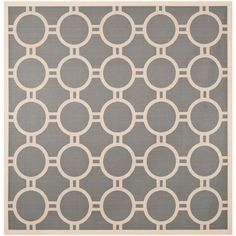 Courtyard Anthracite/Beige (Grey/Beige) 7 ft. 10 in. x 7 ft. 10 in. Indoor/Outdoor Square Area Rug