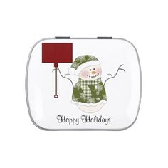 Green Snowman Christmas Jelly Belly Candy Tin http://www.zazzle.com/green_snowman_christmas_jelly_belly_candy_tin-256304602113809936?rf=238631258595245556
