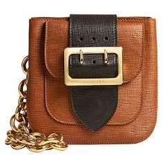 The Burberry Belt Bag - Square in Leather ($1,495) ❤ liked on Polyvore featuring bags, handbags, shoulder bags, leather belt bag, military fashion, brown leather handbags, leather fanny pack and leather shoulder handbags