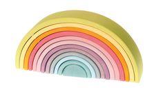 Grimm's Regenbogen 12-teilig Pastell | Steckspiele | Spiele | Spielen & Lernen | Spielzeug | Kiids.de