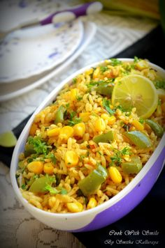 capsicum corn rice recipe,capsicum corn rice,capsicum corn pulav,capsicum bath