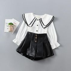 Dress up your cute little ones with this new and fashionable spring outfit, let them stand out and be the main attraction. Spring Outfits, Kids Outfits, Spring Clothes, Kids Pants, Blouse And Skirt, Khaki Green, White Outfits, Spring Collection, Outfit Sets