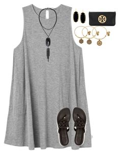 """""""graduation party yesterday w bffs!!❤️"""" by jazmintorres1 ❤ liked on Polyvore featuring RVCA, Tory Burch, Kendra Scott and Alex and Ani"""