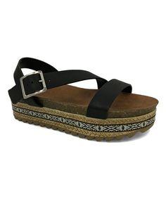 103fcefd6125b4 Black Lacey Ankle-Strap Sandal - Women