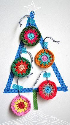 natal : inspiração em crochê