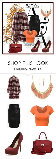 """Romwe 3"" by dinka1-749 ❤ liked on Polyvore featuring New Look and Salvatore Ferragamo"