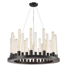 Elk Lighting Glass Skyline 10721/12 Chandelier - 10721_12