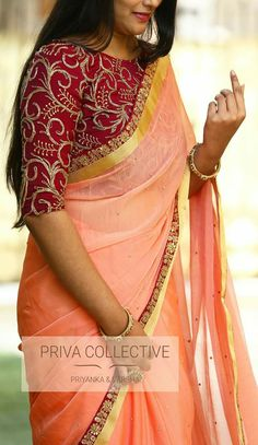 Latest Saree Blouse, Pattu Saree Blouse Designs, Saree Blouse Patterns, Salwar Designs, Stylish Blouse Design, Fancy Blouse Designs, Bridal Blouse Designs, Trendy Sarees, Stylish Sarees