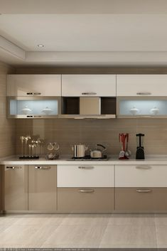 You can instantly brighten up the space and give it its much-needed face lift by simply adding acrylic kitchen cabinets. Kitchen Cupboard Designs, Kitchen Room Design, Modern Kitchen Design, Home Decor Kitchen, Interior Design Kitchen, Interior Office, Decorating Kitchen, Interior Garden, Design Room