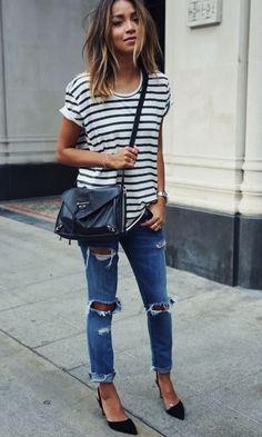 Moda it - Look: Listras + Skinny | Moda it