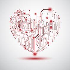 Проводники печатные в виде сердца