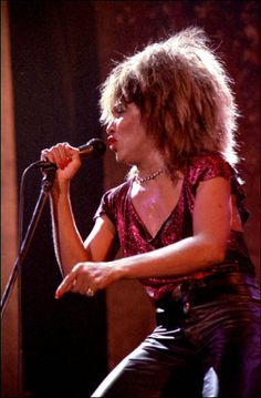 Tina Turner in concert during 1985