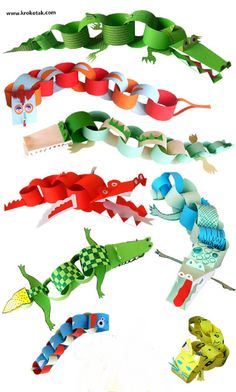 Sometimes you just need a quick craft to keep the kids entertained. These fun paper crafts are very inexpensive and simple to prepare. Diy Crafts To Do, Quick Crafts, Paper Crafts For Kids, Diy For Kids, Arts And Crafts, Paper Chains, Art Activities, Paper Art, Creations