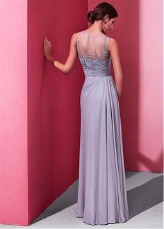 Buy discount Enchanting Chiffon Jewel Neckline A-line Prom Dress With Beaded Emb… - Wedding A Line Prom Dresses, Grad Dresses, Ball Dresses, Ball Gowns, Evening Dresses, Wedding Dresses, High Fashion Dresses, Casual Dresses, Formal Dresses