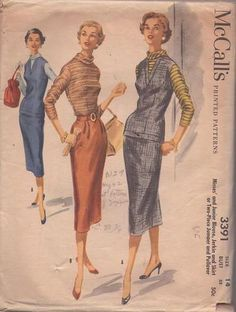 Vintage Sewing Patterns, Clothing Patterns, Beautiful Patterns, Clothes, Outfits, Clothes Patterns, Clothing, Kleding, Outfit Posts