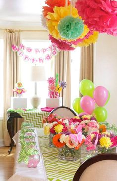 Flower Shop Themed Birthday Party with Lots of Cute Ideas via Kara's Party Ideas KarasPartyIdeas.com #flowershopparty #flowerparty #floral #...