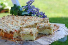 Ciasto na maślance z rabarbarem i kruszonką Krispie Treats, Rice Krispies, Feta, Catering, Cheese, Cook, Recipes, Catering Business, Gastronomia