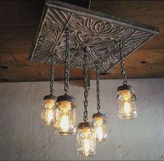 Secret To Farmhouse Lighting Kitchen Chandeliers Mason Jars 49 - sitihome Old Chandelier, Mason Jar Chandelier, Mason Jar Lighting, Kitchen Lighting, Chandeliers, Mason Jar Light Fixture, Rectangle Chandelier, Farmhouse Lighting, Rustic Lighting