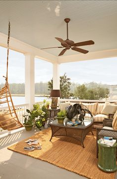 This coastal style home was designed by Historical Concepts as an Idea House for Coastal Living Magazine, located in River Dunes, North Carolina. Decor, Coastal Decor, Summer Porch, Coastal Homes, Outdoor Decor, Outdoor Rooms, Summer Porch Decor, Terrace Furniture, Porch