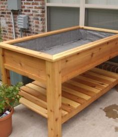 DIY & Home Project. If you want to grow some plants or vegetables in your yard, first you are going to need some good planter boxes. DIY planter box designs, plans, ideas for vegetables and flowers Garden Box Plans, Planter Box Plans, Raised Planter Boxes, Raised Garden Bed Plans, Garden Planter Boxes, Building A Raised Garden, Diy Planters, Vegetable Planter Boxes, Fall Planters