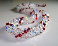 Treasures Necklace by Atena Komar 650 Swarovski Crystals    Photography by http://AtenaKomar.com  Jewelry by http://TreasuresByAtena.com
