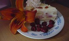 Nepečený tvarohový dort s malinami Tiramisu, Waffles, Pudding, Breakfast, Cake, Recipes, Morning Coffee, Puddings, Mudpie