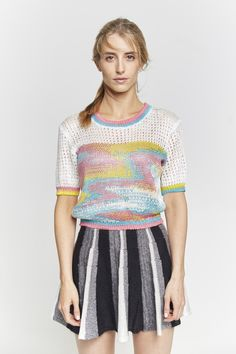 FTY 2015 Jasmin Rigert Knitting, Blouse, Outfits, Tops, Women, Fashion, Textile Design, Moda, Suits