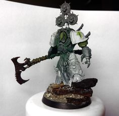 Chaos Space Marine Terminator of the Death Guard.