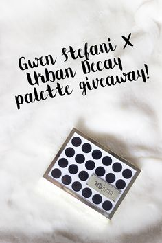 GWEN STEFANI X URBAN DECAY EYESHADOW PALETTE GIVEAWAY | Beauty + Lifestyle Blog by Joanne Sherrell