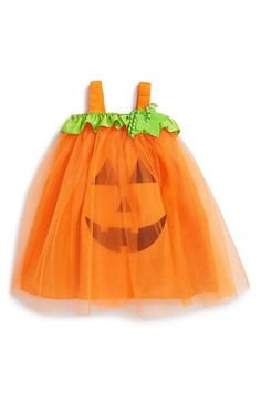 Mud Pie 'Pumpkin' Tulle Dress (Baby Girls) available at #Nordstrom