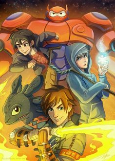 Big hero 6, jack frost and toothless>>---Those are some of my favorite movies of all time.