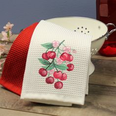 156 Best Kitchen Towel Machine Embroidery Designs images ...