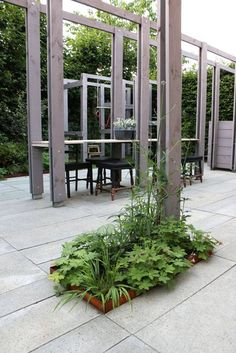 Garden and pilot TOOP tuinhuisje in Wilp location: Trellises as architectural elements and play structures combined.