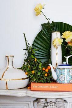 Anthropologie Fused Gold Vase