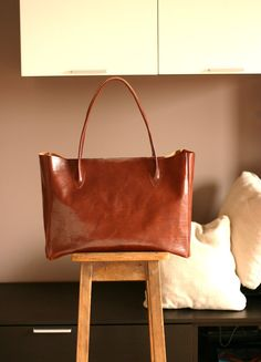 Handmade Leather  bag  Leather everyday bag by Creazionidiangelina (etsy)